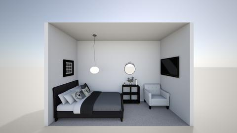 shoe box modern in 3d - Modern - Bedroom  - by jade1111