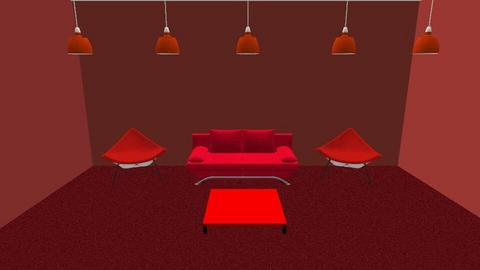 red room - Living room  - by Cianna3031