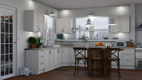 White Kitchen 3 - Kitchen  - by GraceKathryn