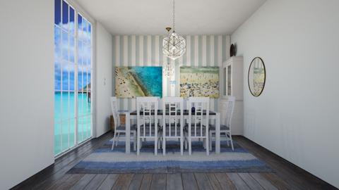 beach dining room  - Rustic - Dining room  - by martinini