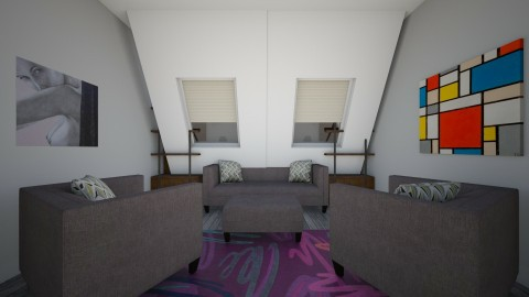 Grey Room - Living room - by mittens1278