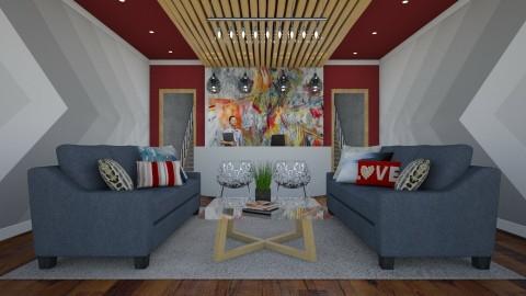 office red blue - by queeniecharlie