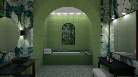 Green Peacock - Bathroom - by yonvie