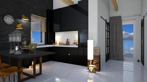 MD atrium kitchen glam - Kitchen - by ewcia3666