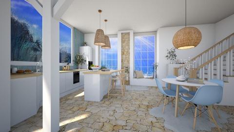 ocean_inspired_kitchen - Modern - Kitchen  - by Marlisa Jansen