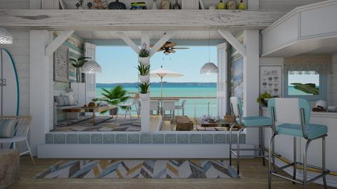 Boho Beach Cafe - Rustic - Dining room  - by Nicky West