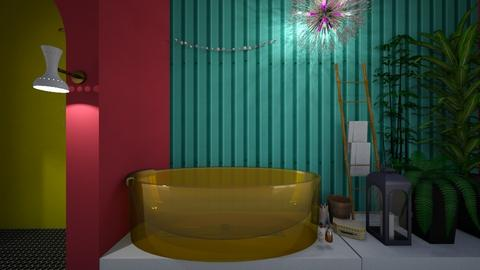Fun Color Bathroom - by CamGrace