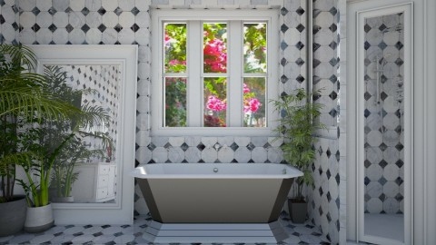 marble bath4 - Country - Bathroom  - by donella