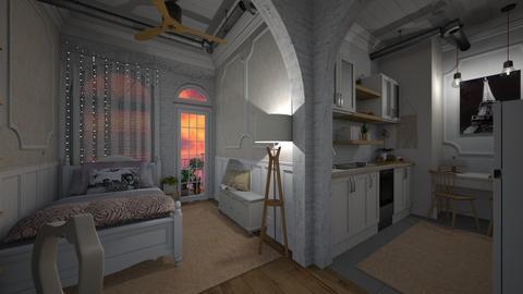 Little Parisian Apartment - Vintage - by Sally Anne Design