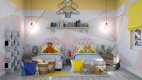 my girls room - Modern - Kids room - by Bianca Interior Design