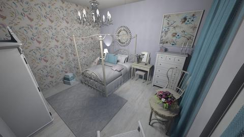 Shabby Chic Interior - Vintage - Bedroom  - by Zhannat