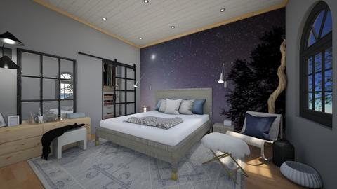 nightsky wall - Bedroom  - by Niva T