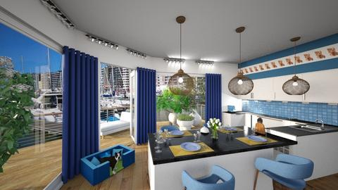 Matilda's ocean inspired kitchen - by Matilda de Dappere
