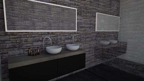 dark - Bathroom  - by yosipras