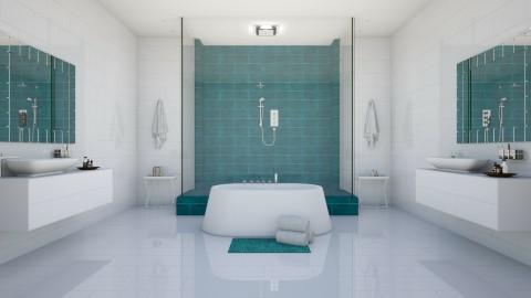 Symmetric Spa - Modern - Bathroom  - by Vampire_Kitty