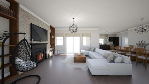 Modern country house - Living room  - by AleksandraZaworska98