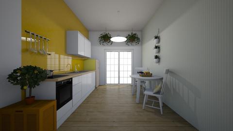 narrow kitchen - Kitchen  - by tamaratam