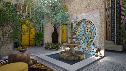 Moroccan courtyard - by rebsrebsmmg