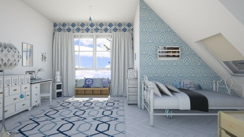 blue room - Vintage - Kids room  - by kashanka