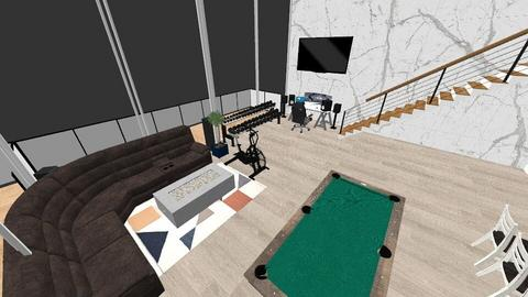 penthouse - Living room  - by xwolf35