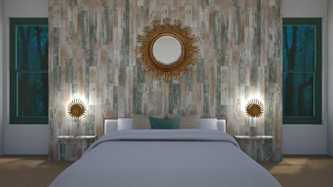 Wooden Wall Themed Bedroom - Bedroom  - by LD16