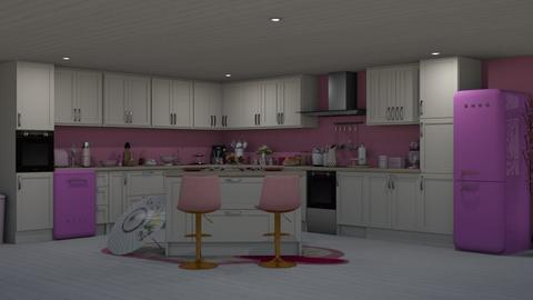 Pink Kitchen - Feminine - Kitchen  - by Twice and Momo