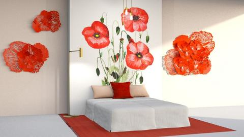 Poppies - Bedroom - by CatsFurLife