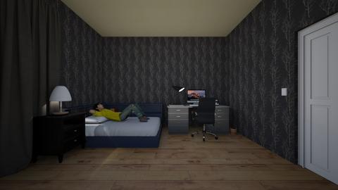 Impmon_Bedroom - Modern - Bedroom  - by Inku203
