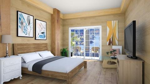 Wood Theme Bedroom - Bedroom  - by Chrispow0105