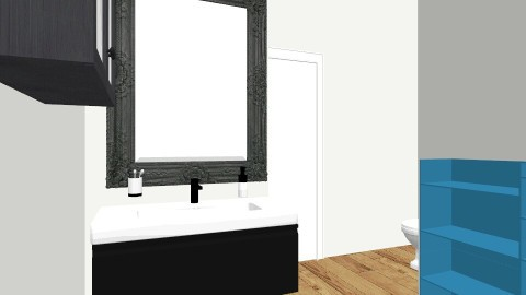 1st idea leaving walls - Minimal - Bathroom  - by Romancikremodel
