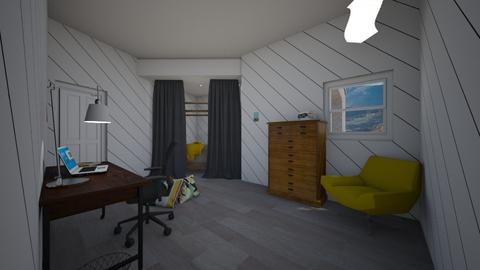 College dorm room  - Retro - Bedroom  - by Cat77v