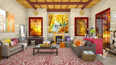 Fall in Love - Classic - Living room  - by creativediva