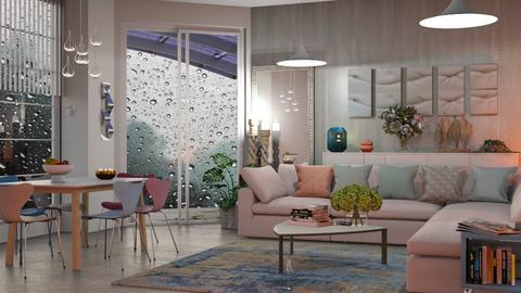 M_ Rainy day - Living room  - by milyca8