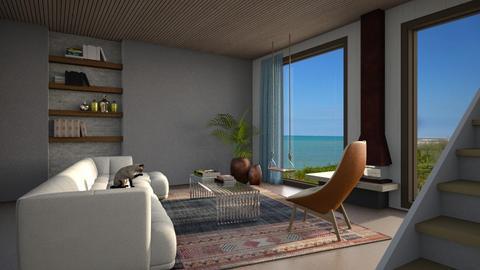 Mountain - Retro - Living room  - by tolo13lolo