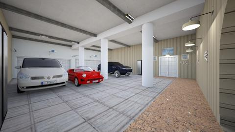 SpCy Mansion Garage - Modern - by alonatech_2nd