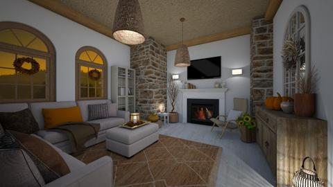 Fall decor  - Living room  - by evelyn19