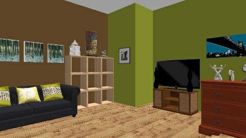 Feeling green - Living room - by ellielou02