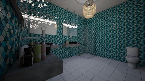 Dorm Room Bath Room - Modern - by LuckyVicky