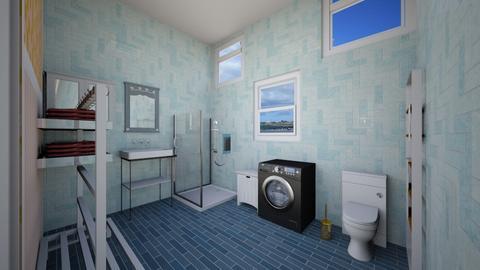 Ocean blue bathroom  - Bathroom  - by khinphyucinhtet