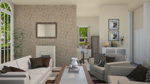 Natural Tones - Living room - by alasiamilan