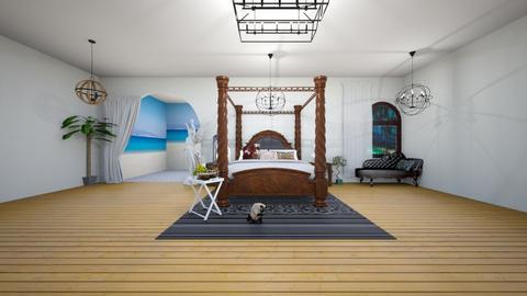 Greek bedroom - Modern - Bedroom  - by coco fox