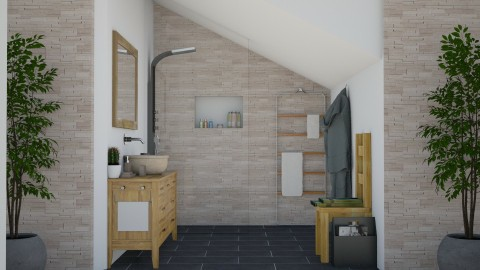 Guests Bath - Rustic - Bathroom - by carina68