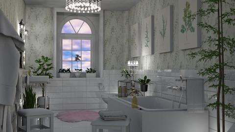 Greenery Bathroom - Bathroom  - by GraceKathryn