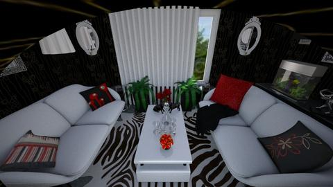 Black White Shiny - Modern - Living room - by Mary__