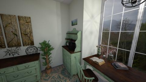 Green Room - Retro - by elle rose