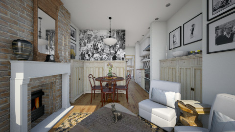 Village Apt Dining - Eclectic - Dining room  - by russ