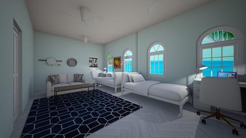 Forbidden Island Dorm - Bedroom  - by magicwater37