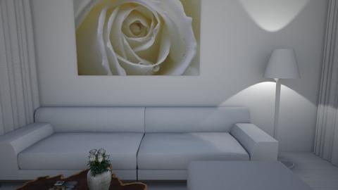 White Canvas - Minimal - Living room  - by nkanyezi