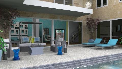 Poolside - Modern - Garden  - by chloedaniella
