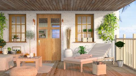 Summer Wooden Porch2 - Eclectic - Garden  - by Sally Simpson